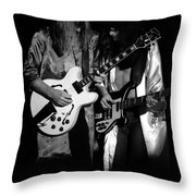 Rush 77 #52 Enhanced Bw Throw Pillow