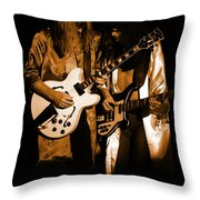 Rush 77 #52 Enhanced In Amber Throw Pillow