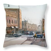 Rush Hour II In Fond Du Lac Throw Pillow