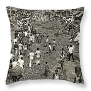 Rush Hour - Sepia Throw Pillow