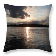 Rush Lake  Throw Pillow