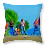Rush On Skates Throw Pillow