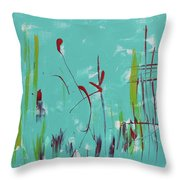 Rushes And Reeds Throw Pillow