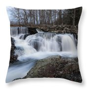 Rushing Falls Throw Pillow