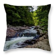 Rushing Falls In The Mountains Throw Pillow