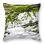 Rushing River Throw Pillow by Thomas R Fletcher