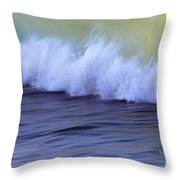 Rushing To Shore Throw Pillow