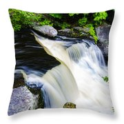 Rushing Water On A Mountain Stream Throw Pillow