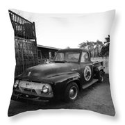 Russel Farms 1951 Ford F100 Black And White Throw Pillow