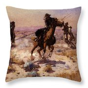 Russell Charles Marion At Rope S End Throw Pillow