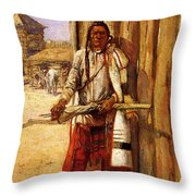 Russell Charles Marion Buffalo Coat Throw Pillow