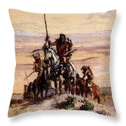 Russell Charles Marion Indians On Plains Throw Pillow