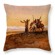 Russell Charles Marion Invocation To The Sun Throw Pillow