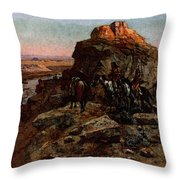 Russell Charles Marion Planning The Attack Throw Pillow