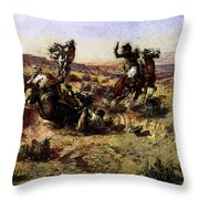 Russell Charles Marion The Broken Rope Throw Pillow