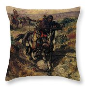 Russell Charles Marion The Scouting Party Throw Pillow
