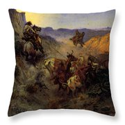 Russell Charles Marion The Slick Ear Throw Pillow
