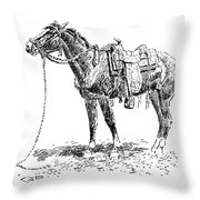 Russell: Rawlins Horse Throw Pillow