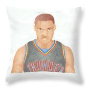 Russell Westbrook  Throw Pillow by Toni Jaso