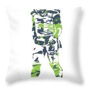 Russell Wilson Seattle Seahawks Pixel Art 11 Throw Pillow