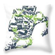 Russell Wilson Seattle Seahawks Pixel Art 12 Throw Pillow