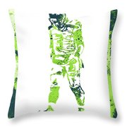 Russell Wilson Seattle Seahawks Water Color Art 2 Throw Pillow