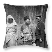 Russia: Convicts, C1885 Throw Pillow