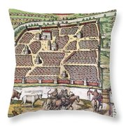 Russia: Moscow, 1591 Throw Pillow