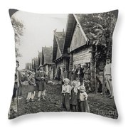 Russia: Peasants Throw Pillow