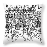 Russia: Royal Guard Throw Pillow