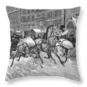 Russia: Troika, 1888 Throw Pillow