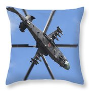 Russian Air Force Ka-52 Helicopter Throw Pillow