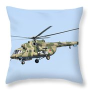 Russian Air Force Mi-171sh Helicopter Throw Pillow