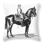 Russian Chevalier Guard Throw Pillow