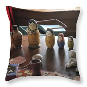 Russian Dolls Throw Pillow