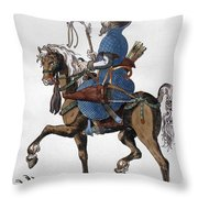 Russian Horseman, C1577 Throw Pillow