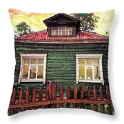 Russian House 2 Throw Pillow