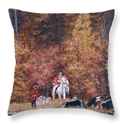 Russian Hunting Throw Pillow
