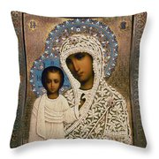 Russian Icon: Mary Throw Pillow