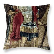 Russian Icons: Michael Throw Pillow