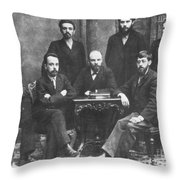 Russian Marxists, 1897 Throw Pillow