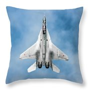 Russian Mig-35 Fulcrum 4 Throw Pillow