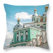 Russian Orthodox Cathedral. Throw Pillow