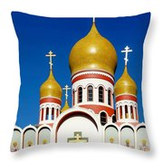 Russian Orthodox Throw Pillow