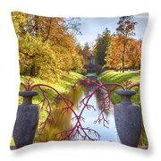 Russian Park Throw Pillow by Ariadna De Raadt