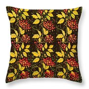 russian pattern Hohloma Throw Pillow