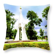 Russian Peace Tower Throw Pillow