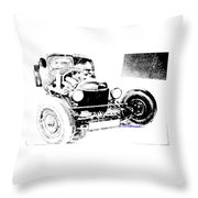 Russian Rat Rod Throw Pillow