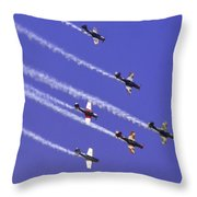 Russian Roolettes And Blue Sky Throw Pillow