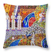 Wall Of Life Throw Pillow